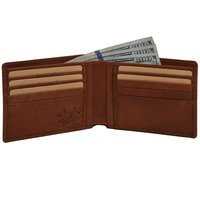 Genuine Leather Men's Bi Fold Wallet