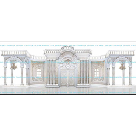 Grand Wedding Reception Stage Decoration