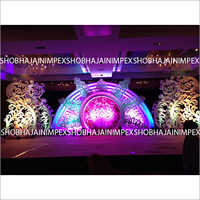 Hindu Reception Stage Decor for Marriage