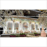 Luxurious English Wedding Reception Stage
