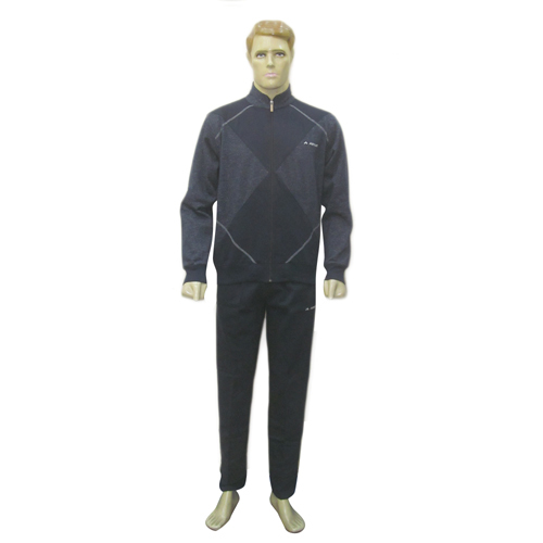 Mens Navy Athletic Fancy TrackSuits