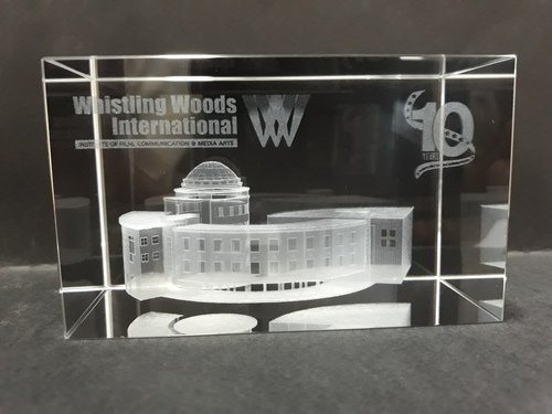 3D Building Engraving In Crystal