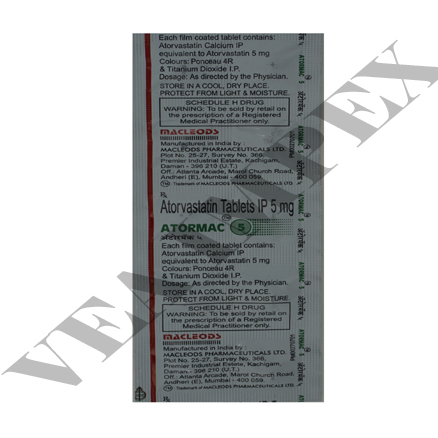 Atormac 5(Atorvastatin Tablets)