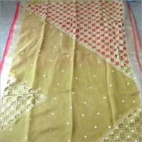 Linen by linen cutwork saree