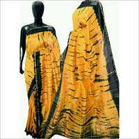 Linen by linen hand print saree