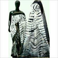 Linen Hand Print Designer Saree