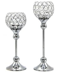 Crystal Votive Candle Holders Wedding Centerpieces Chandeliers 2 Pcs Set