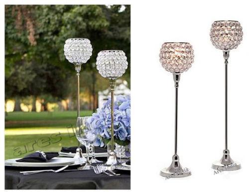 Crystal Votive Candle Holders Wedding Centerpieces Chandeliers 2 Pcs Set