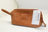 Unisex Leather Toilet Bag