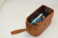 Unisex Leather Toilet Bag