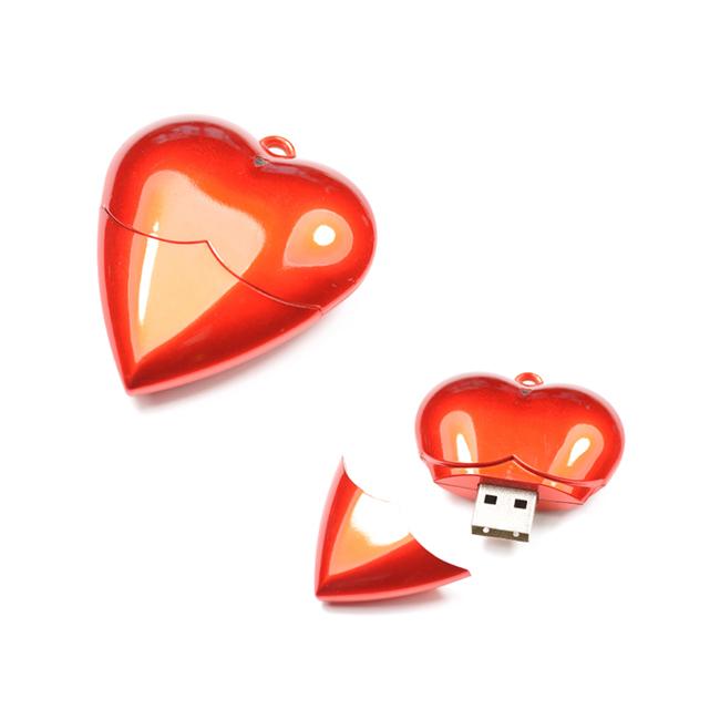 Custom Red Chilli Heart Shape USB flash drive