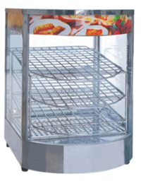 Vertical Round Glass Food Warmers
