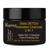 KAZIMA Daily DETOX Activated Charcoal 2 IN 1 Mask Gel