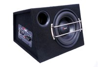 ENCLOSURE BLACK CAR BASS TUBE