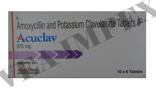Acuclav 375 mg(Amoxycillin and Potassium Clavulanate Tablets)