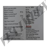 Acuclav 375 mg(Amoxycillin and Potassium Clavulanate Tablets)