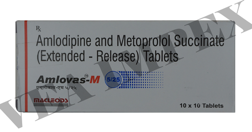 Amlovas M 5/25(Amlodipine and Metoprolol Tablets)