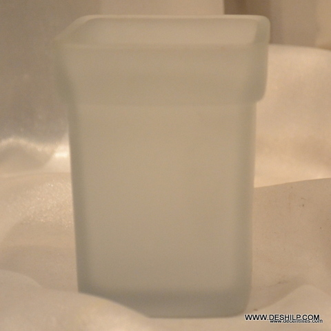 GLASS SOAP DISH ,FROSTED SOAP DISH SQUARE SHAPE HEAD