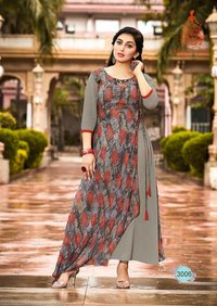 New Georgette Printed Kurtis