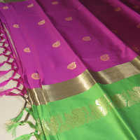 Silk Cotton Sarees With Contrast Blouse