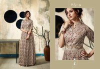 Anarkali Satin Georgette Long kurtis