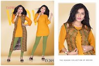 Plain Rayon Kurti With print koti