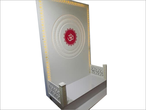 Decorative Corian Pooja Mandir