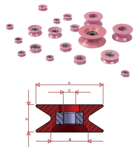 Ceramic Wire Pulleys / Ceramic Rollers - NT Series