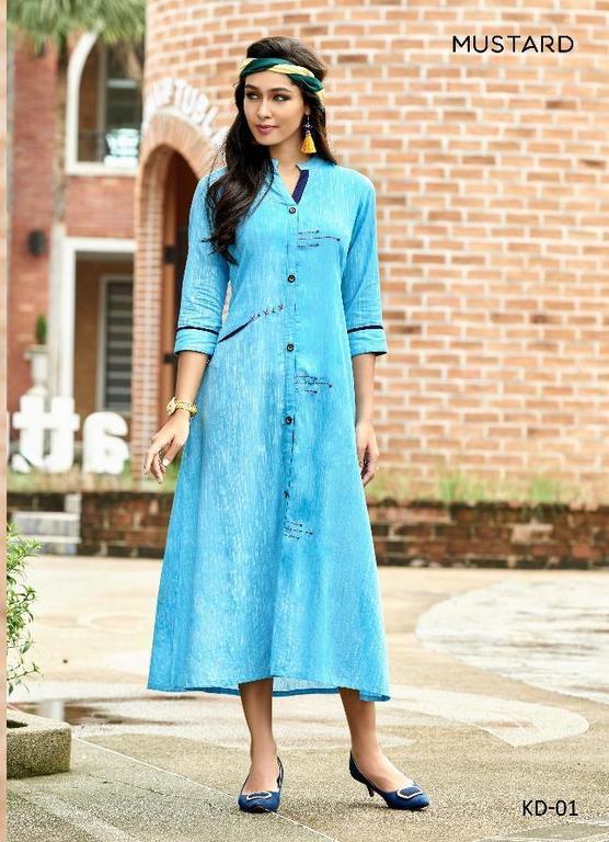Fancy Khadi Linen kurtis