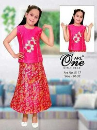 Kids designer skirt top