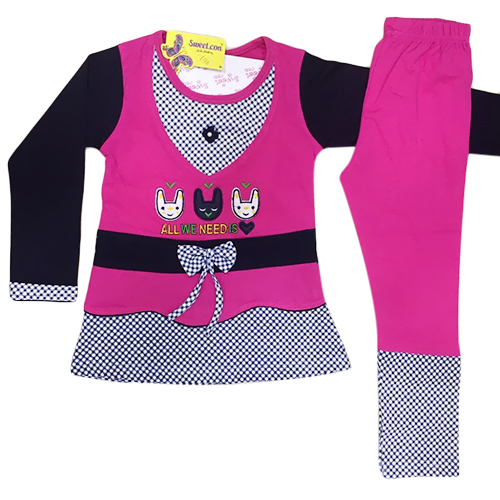 Girls Cotton Pajami Suit