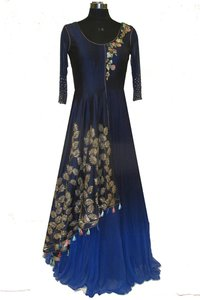 Georgette indo-western gown