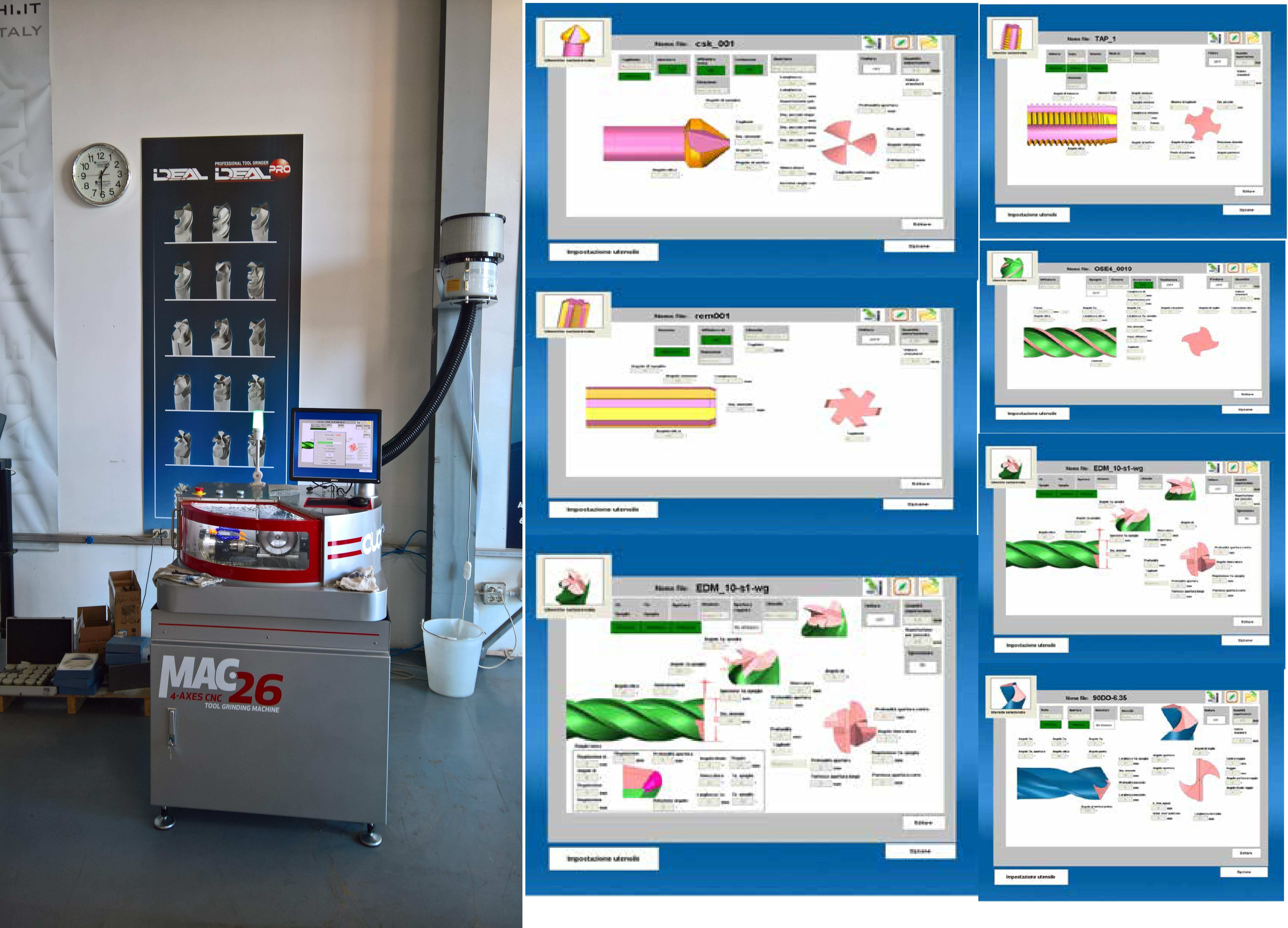 MAC 26 tool regrinding machine
