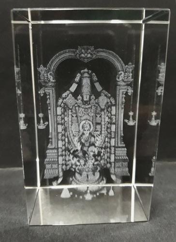 3D Balaji Crystal Cube