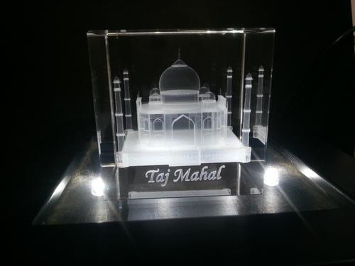 3D Taj Mahal Crystal Cubes