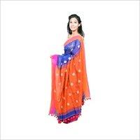 Ethnic handloom Linen Sarees