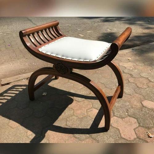 Teakwood Puff Chair