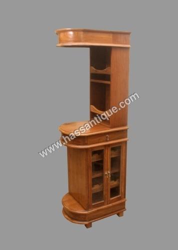 Teak Wood Wine Cabinet