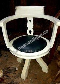Wooden Revolving Chair