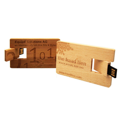 wooden credit card USB 2.0 interface flash drive