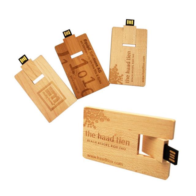 wooden credit card USB 2.0 interface flash drive
