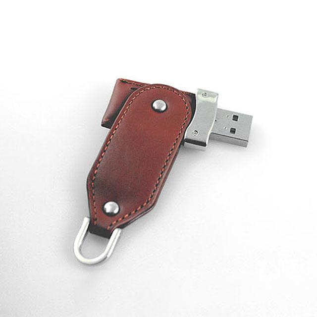 Black Key Chain leather USB Flash Drive