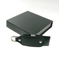 Black Key Chain leather USB Flash Drive