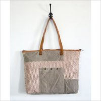 Self Printed Cotton And Canvas Tote Bag
