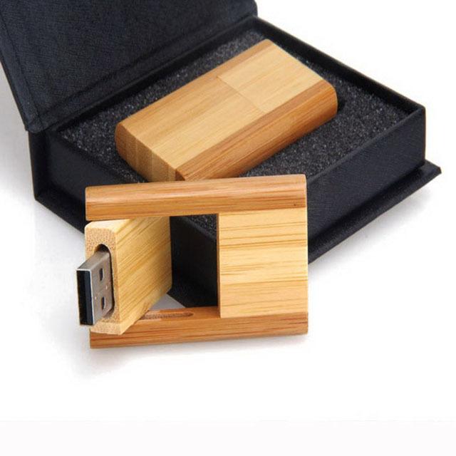Wood USB Flash Drive Reverse Shape Pen Drive