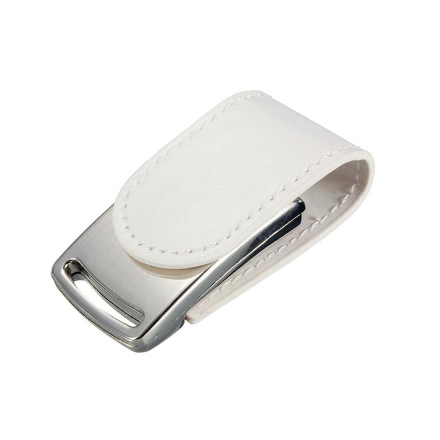 Leather And Metal Material Fashion Style USB Flash Drive
