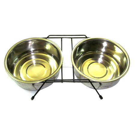 Double Pet Bowl Stand