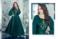 New Fancy Designer Anarkali Silk Suits