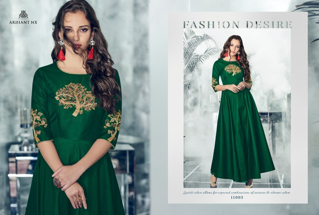 New Fancy Designer Anarkali Silk Suits