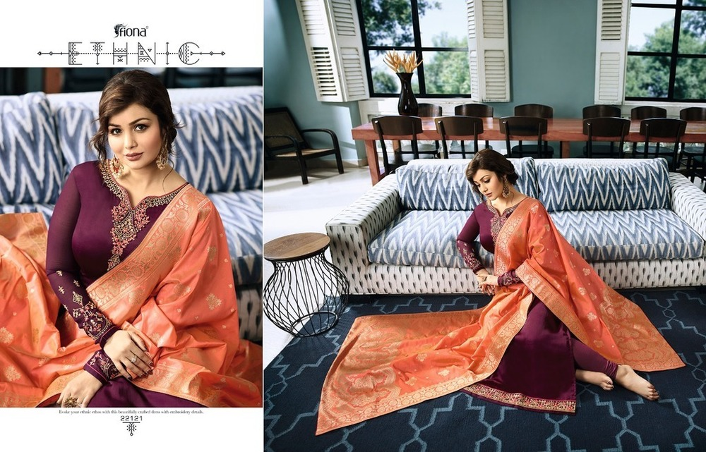 Georgette Suits With Jacquard Dupatta